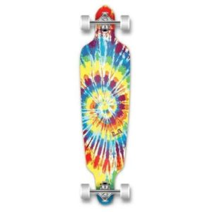 Punked Tie Dye Drop Through Longboard